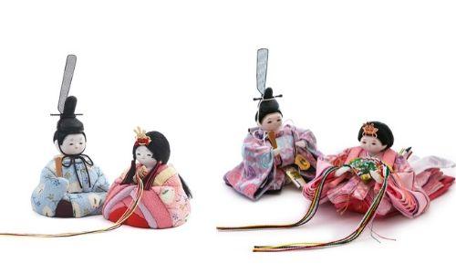 木目込み雛人形と衣裳着雛人形の比較