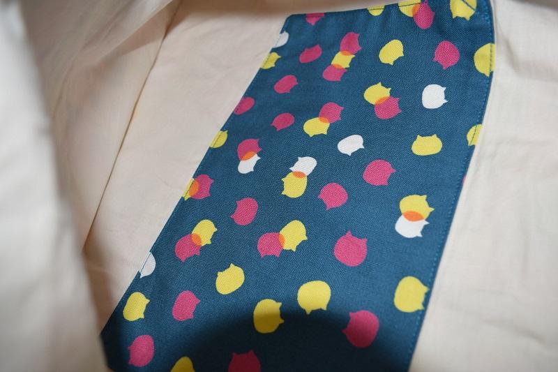 猫の水玉模様のポケット