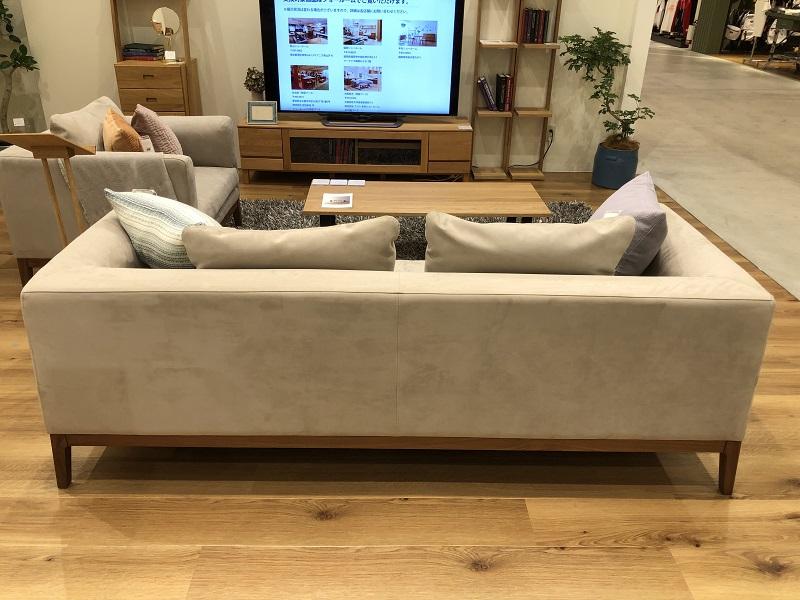 高野木工フラッチェというシリーズのソファの背面