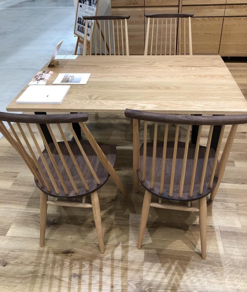 高野木工のグタムダイニングテーブルと柏木工のシビルチェア