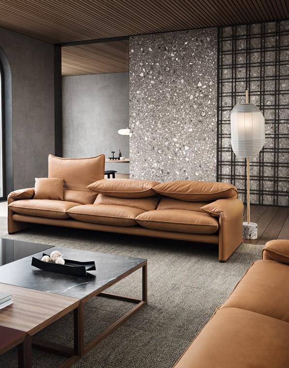 カッシーナのマラルンガというシリーズのソファ