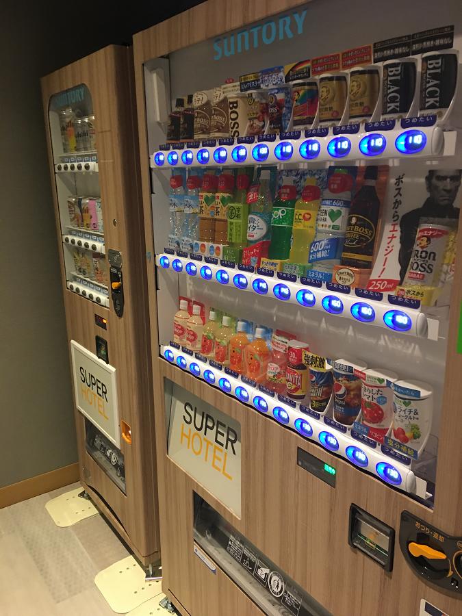 スーパーホテル別府駅前の自販機