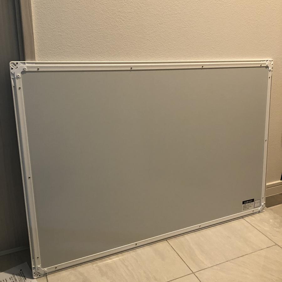 日学樹脂枠ホワイトボードの裏側