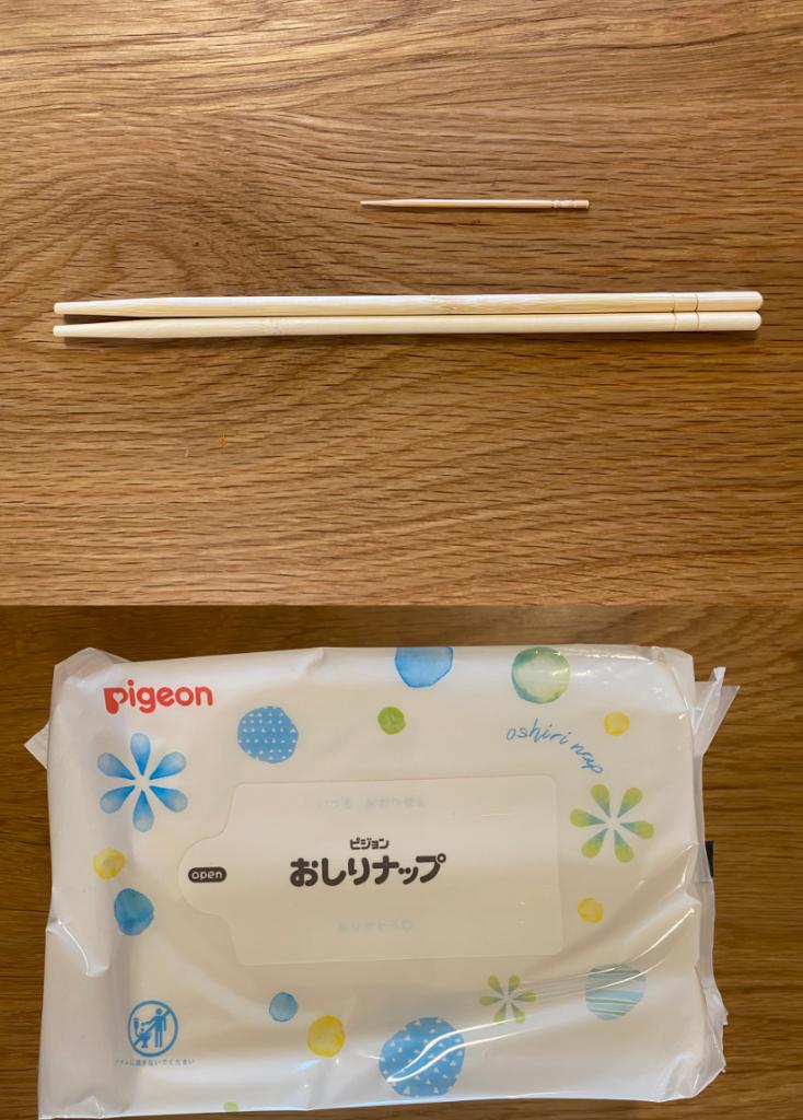 接着の際に使用する、割箸と爪楊枝とウエットテッシュ